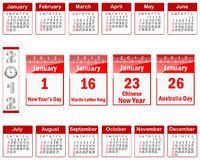Calendar for 2012. Stock Photos