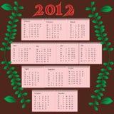 Calendar 2012 Royalty Free Stock Image