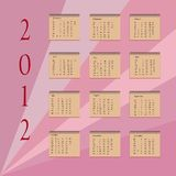 Calendar 2012 Royalty Free Stock Photo