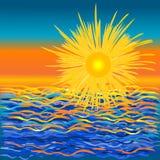 Sea illustration draw Stock Images
