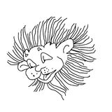 Lion simple kids draw Stock Image