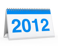 Calendar 2012. Blue year calendar 2012 on white background Stock Illustration