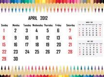 Calendar 2012 April Royalty Free Stock Photos