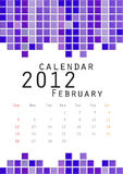 Calendar 2012 February. Moses tile Stock Photos