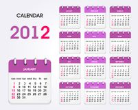 Calendar 2012 new Stock Photo
