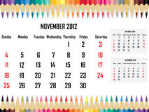 Calendar 2012 November Stock Image