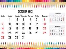Calendar 2012 October Stock Images