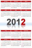 Calendar_2012 pieno illustrazione di stock