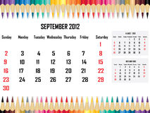 Calendar 2012 September. Illustration of Calendar 2012 September Vector Illustration