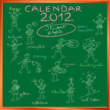 Calendar 2012 student profile cover Stock Images