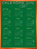 Calendar 2012 with student profile full Royalty Free Stock Photos