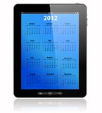 Calendar for 2012 in tablet PC, vector format Stock Photography