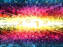 Calendar 2012, vector. Calendar grid 2012 english, vector EPS 10 Royalty Free Stock Photography