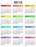 Calendar for 2012 year Stock Photography