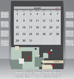 Calendar 2012 year Royalty Free Stock Images