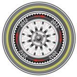 Calendar 2012 year wheel car. The Calendar 2012 year wheel car stock illustration