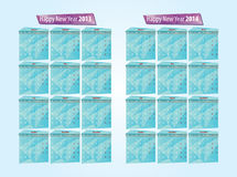 Calendar 2013, 2014. Calendar grids for the year 2013, 2014 royalty free illustration
