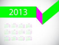 Calendar 2013 Royalty Free Stock Photography