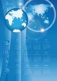 Calendar 2013. Modern and cute calendar on New Year 2013 Stock Images