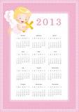 Calendar 2013. Cute calendar on New Year 2013 for kids Royalty Free Illustration