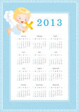 Calendar 2013. Cute calendar on New Year 2013 for kids Royalty Free Stock Photography
