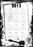 Calendar 2013. Cute and abstract calendar on New Year 2013 Royalty Free Stock Image