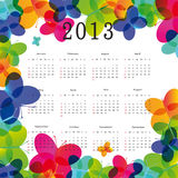 Calendar 2013. Cute and colorful calendar on New Year 2013 vector illustration