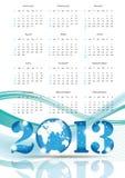 Calendar 2013. Cute calendar on New Year 2013 with globe stock illustration