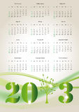 Calendar 2013. Cute and abstract calendar on New Year 2013 Royalty Free Stock Photo