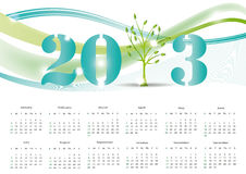 Calendar 2013. Cute and abstract calendar on New Year 2013 Stock Images
