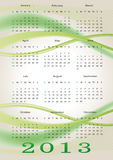 Calendar 2013. Cute and abstract calendar on New Year 2013 Royalty Free Stock Photos