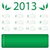 Calendar for 2013 Royalty Free Stock Photos