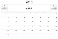 Calendar 2013 Royalty Free Stock Photo