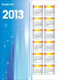 Calendar of 2013. New Years 2013. Calendar of 2013 Stock Photography