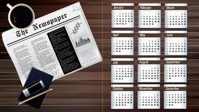 Calendar of 2013 Stock Image