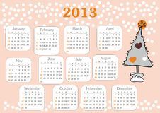 Calendar 2013 Stock Photography