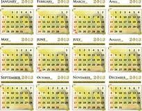 Calendar of 2013 Stock Photo