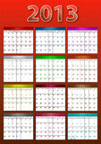 Calendar 2013 Royalty Free Stock Photos
