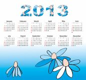 Calendar 2013 royalty free illustration