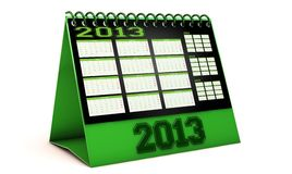 Calendar 2013 in 3d in spanish Royalty Free Stock Photography