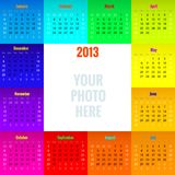 calendar 2013 with blank space for your own photo Stock Photography