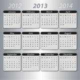 Calendar 2013, english stock illustration