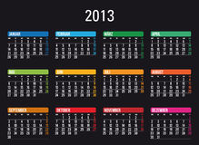 Calendar 2013 in German Stock Image