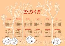 Calendar 2013 horizontal Stock Image