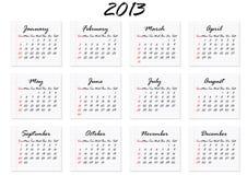 Calendar 2013 In English (vector) Royalty Free Stock Photos