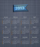 Calendar 2013 linen back jeans inset Stock Photos