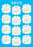 Calendar 2013 small. Green colour vector illustration