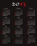 Calendar 2013 vector Royalty Free Stock Image