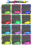 Calendar for 2014 year. Simple but colourful calendar for 2014 year Royalty Free Stock Images