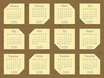 Calendar for 2015 Royalty Free Stock Photos